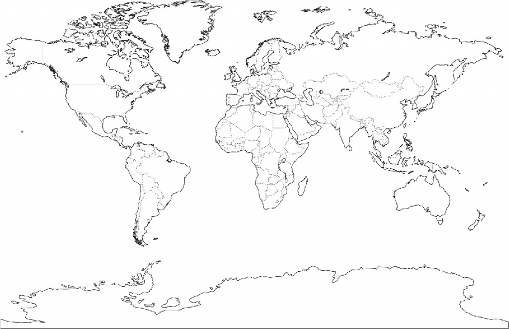 Printable Maps Of The World And Travel Information   Download Free within Free Printable World Map Outline