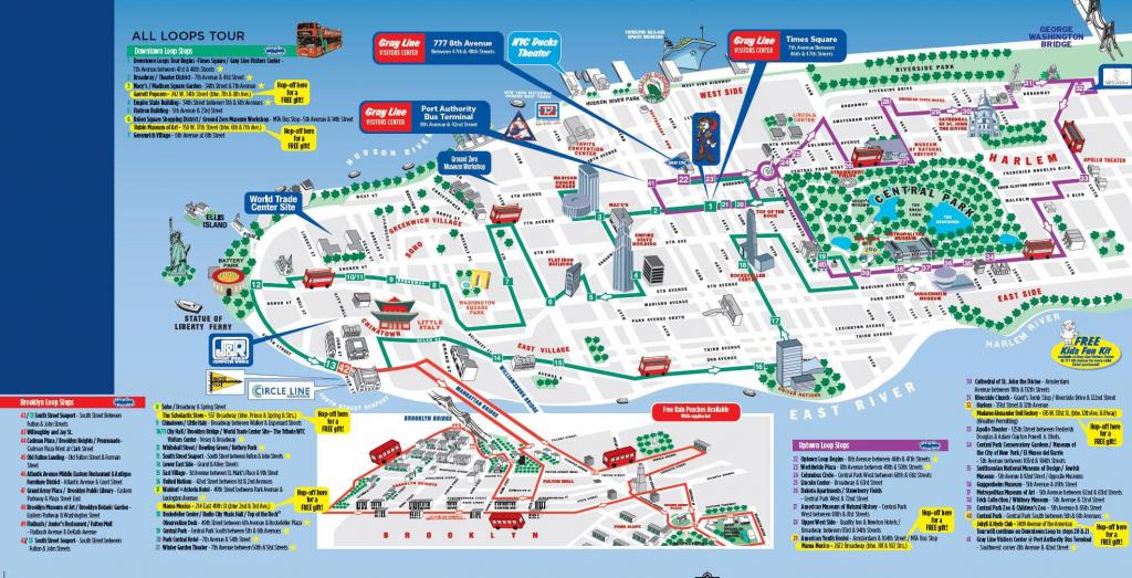Printable New York City Map | Printable New York City Map Pdf | Nyc throughout Printable Walking Map Of Midtown Manhattan