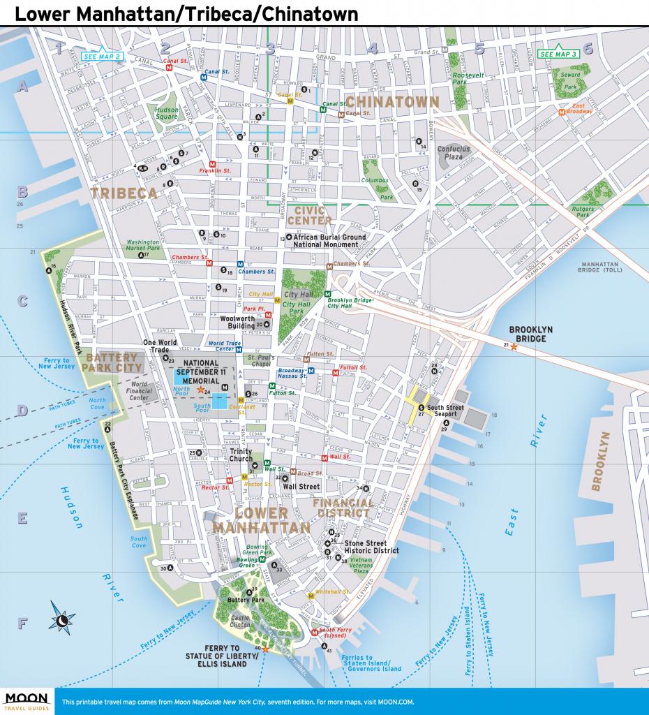 Printable New York Map Printable Travel Maps Of New York | Travel with Printable Street Map Of Manhattan Nyc
