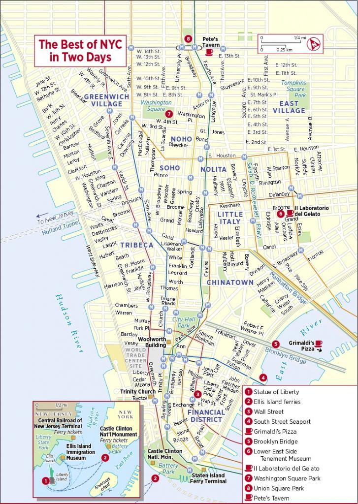 Printable New York Street Map | Travel Maps And Major Tourist for Printable City Street Maps