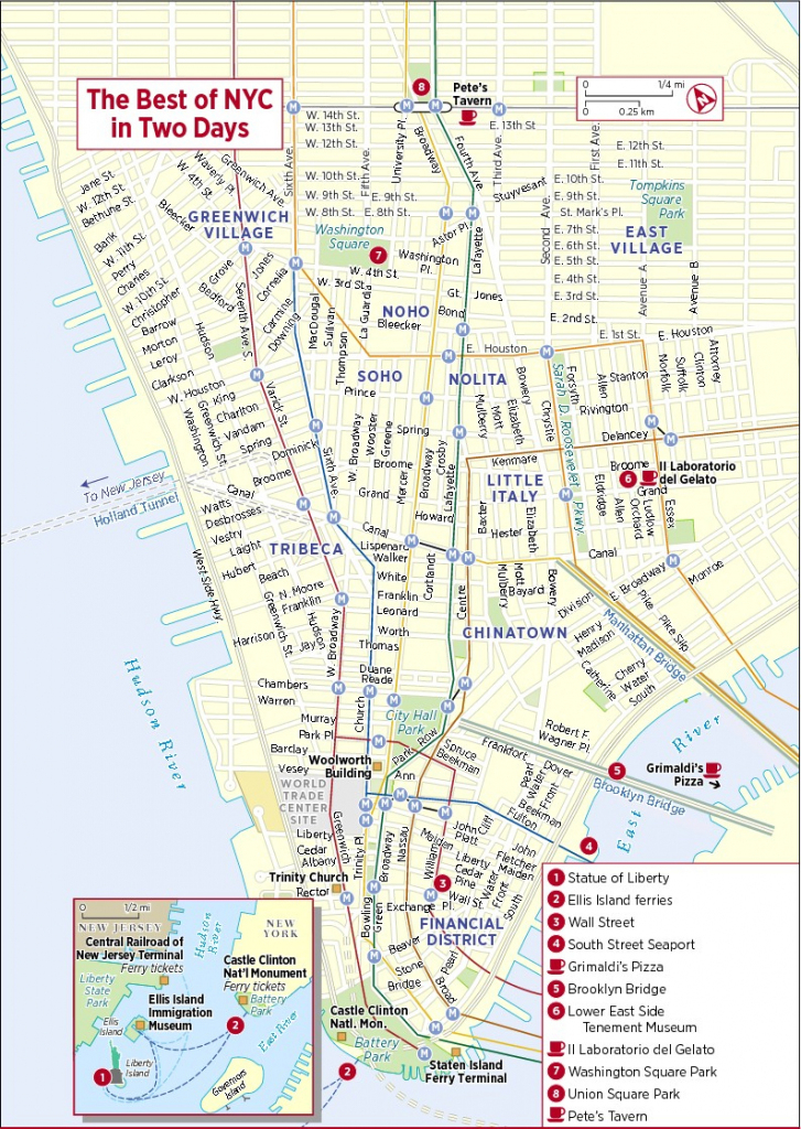 Printable New York Street Map | Travel Maps And Major Tourist for Printable New York Street Map