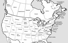 Blank Map Of North America Printable