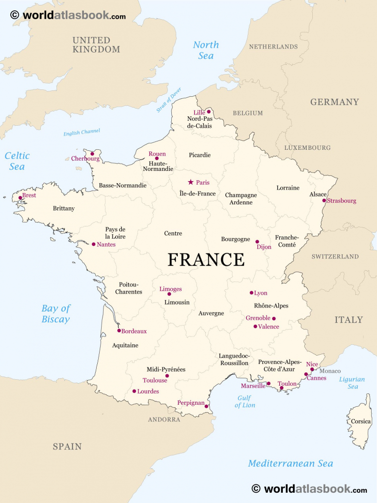 Printable Outline Maps For Kids | Map Of France Outline Blank Map Of regarding Printable Map Of France Regions