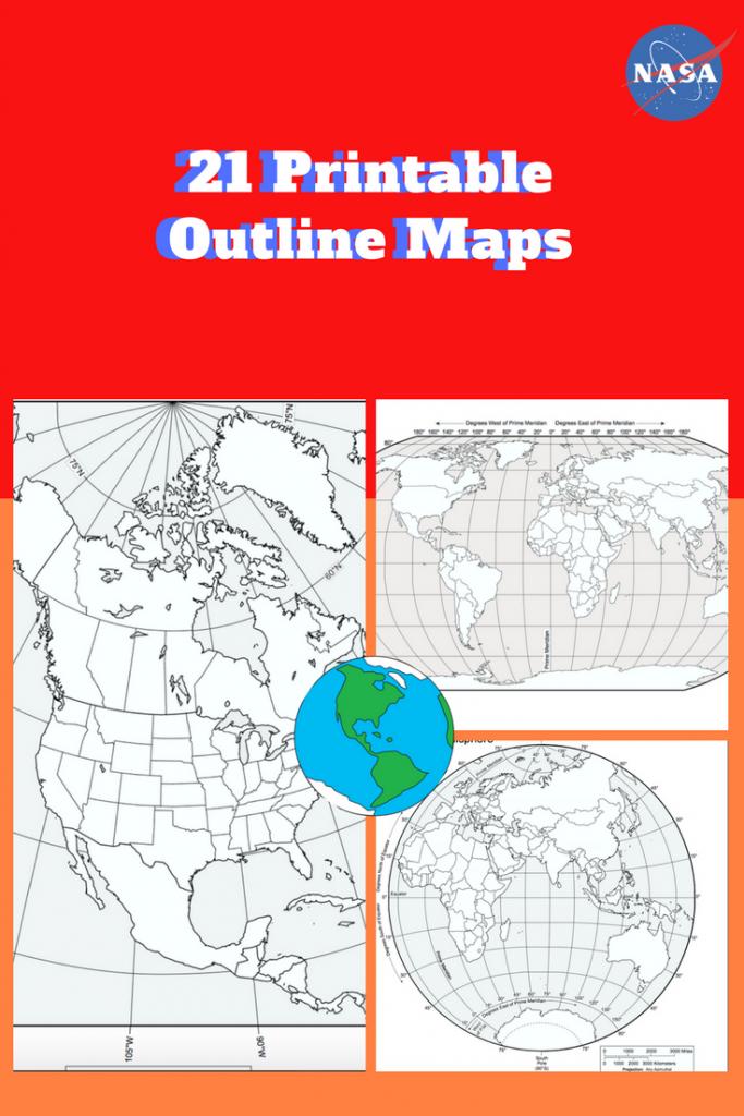 Printable Outline Maps Of The World (Pdf): Download And Print 21 regarding Printable World Map With Hemispheres