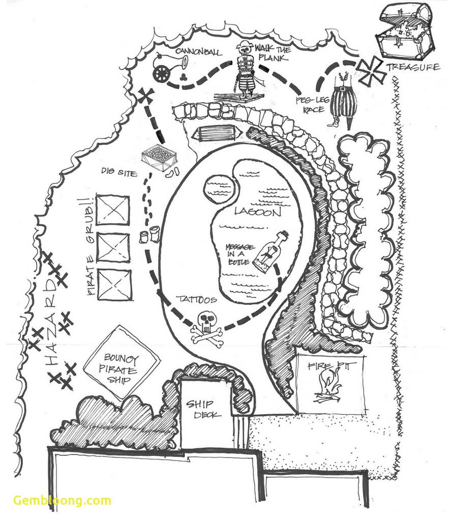 Printable Pirate Map Wonderful Treasure Pdf Paper Template Coloring throughout Printable Pirate Map