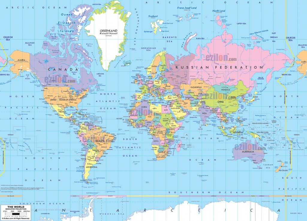 Printable Political World Map Printable Poli | Printables And throughout World Map With Capital Cities Printable