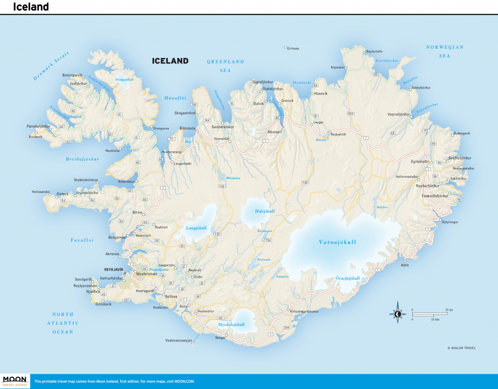 Printable Road Map Of Iceland And Travel Information | Download Free throughout Free Printable Map Of Iceland