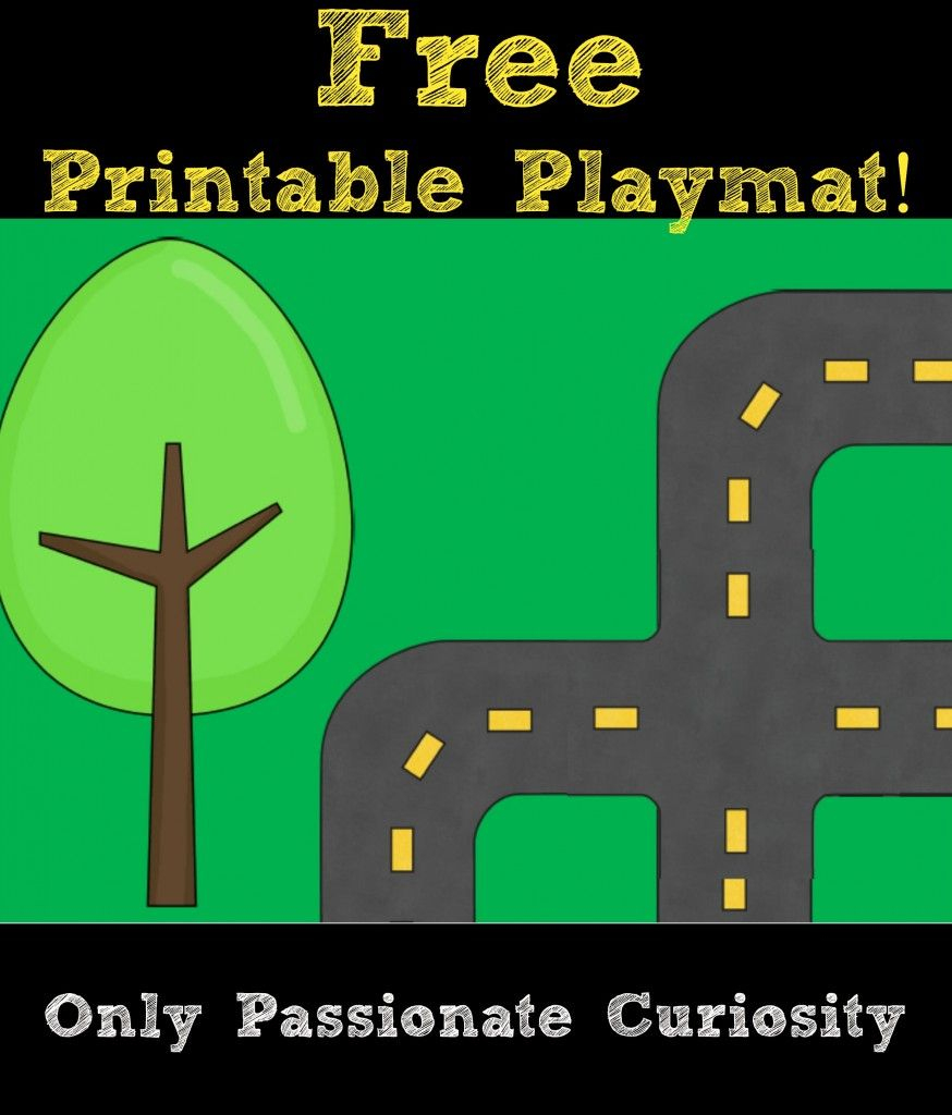 Printable Road Playmat And German Road Signs | Preschool | Community with regard to Printable Road Maps For Kids