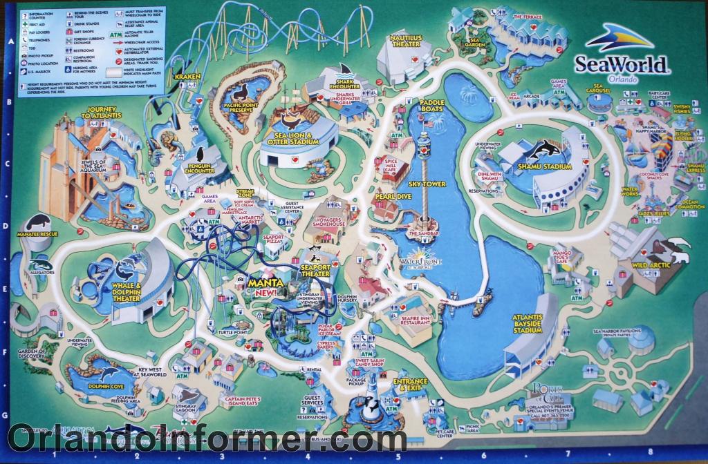 Printable Seaworld Map | Scenes From Seaworld Orlando 2011 - Photo for Seaworld Orlando Park Map Printable