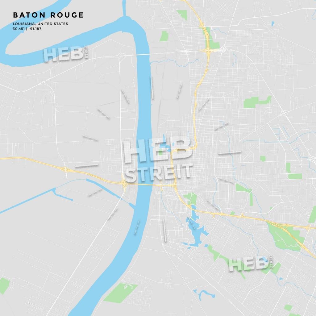 Printable Street Map Of Baton Rouge, Louisiana | Maps Vector intended for Printable Map Of Baton Rouge