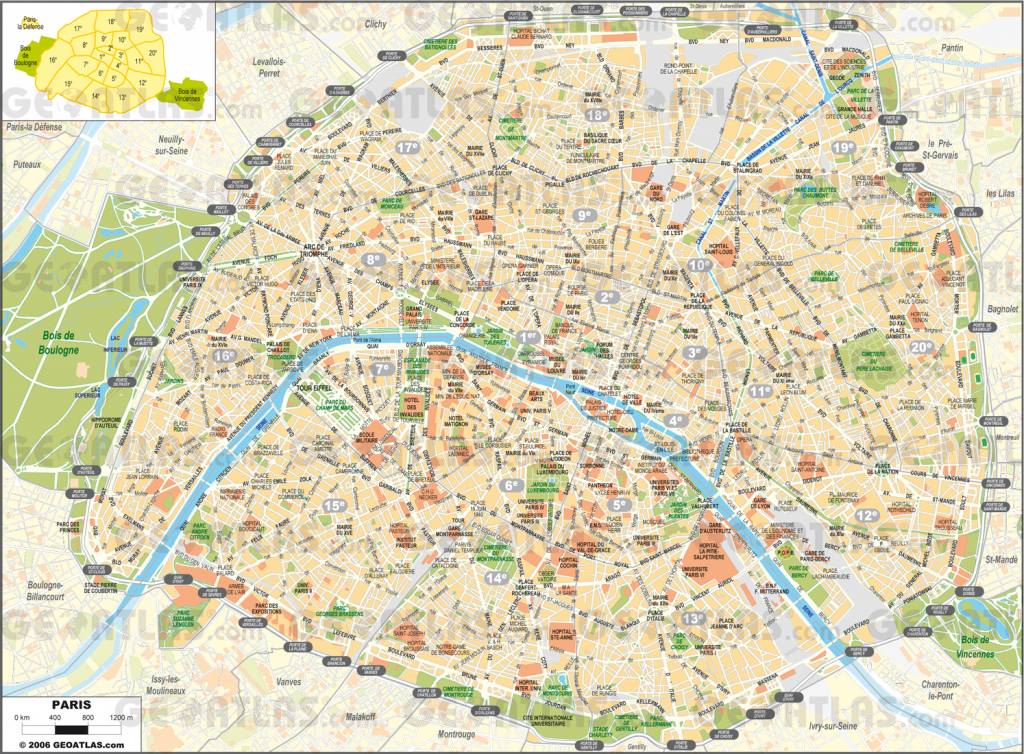 Printable Street Map Of Paris Printable Street Map Paris | Travel pertaining to Street Map Of Paris France Printable