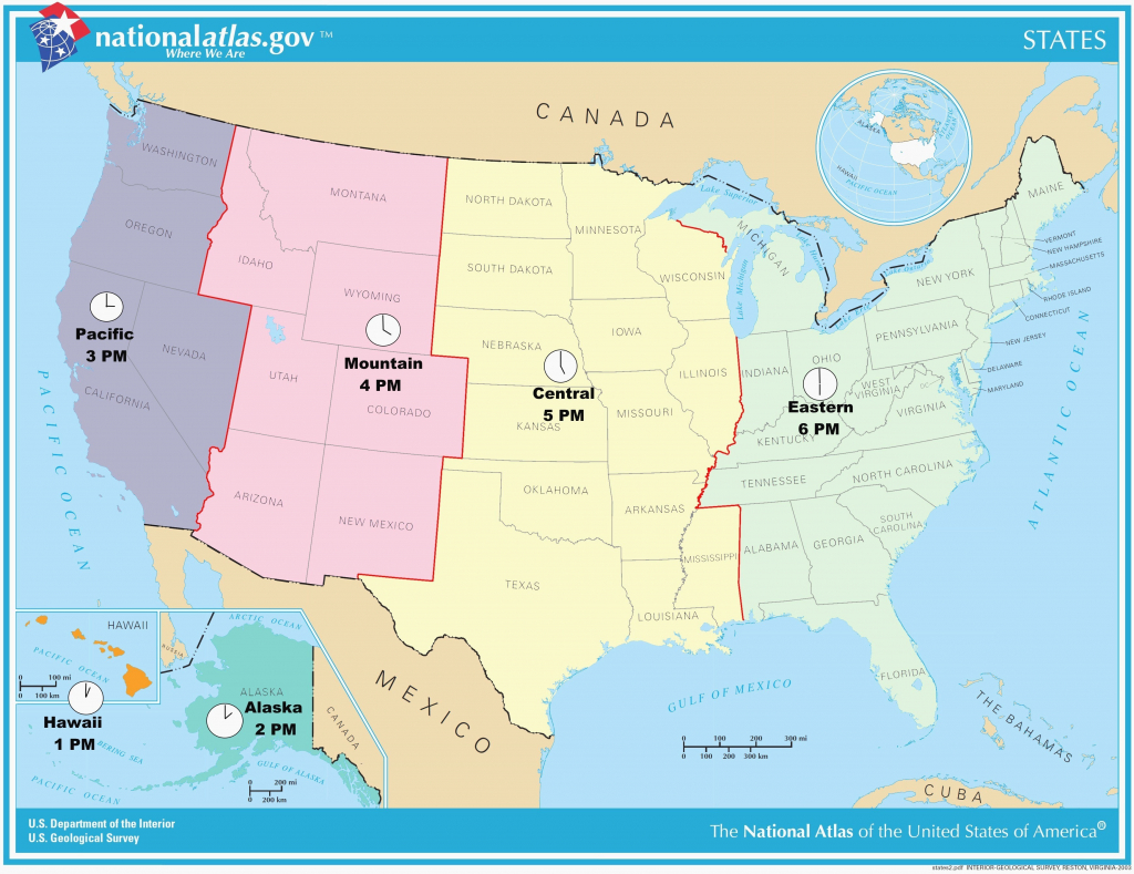 Printable Time Zone Map Us And Canada New Map Timezones In United throughout Printable Time Zone Map
