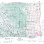 Printable Topographic Map Of Calgary 082O, Ab Inside Free Printable Map Of Alberta