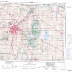 Printable Topographic Map Of Edmonton 083H, Ab For Printable Map Of Edmonton