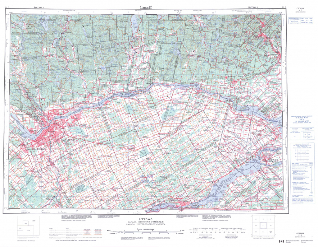 Printable Topographic Map Of Ottawa 031G, On - Free Printable Topo in Topographic Map Printable