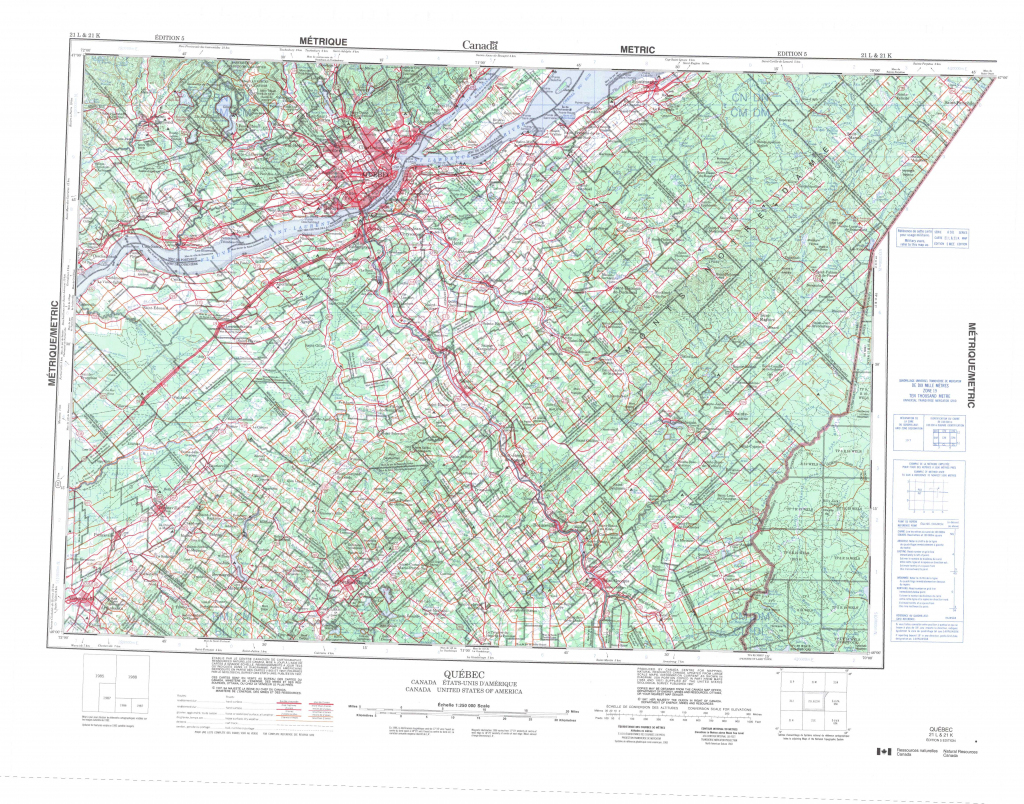 Printable Topographic Map Of Quebec 021L, Qc regarding Printable Topographic Maps
