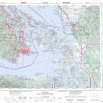 Printable Topographic Map Of Victoria 092B, Bc   Free Printable Topo Inside Printable Topo Maps
