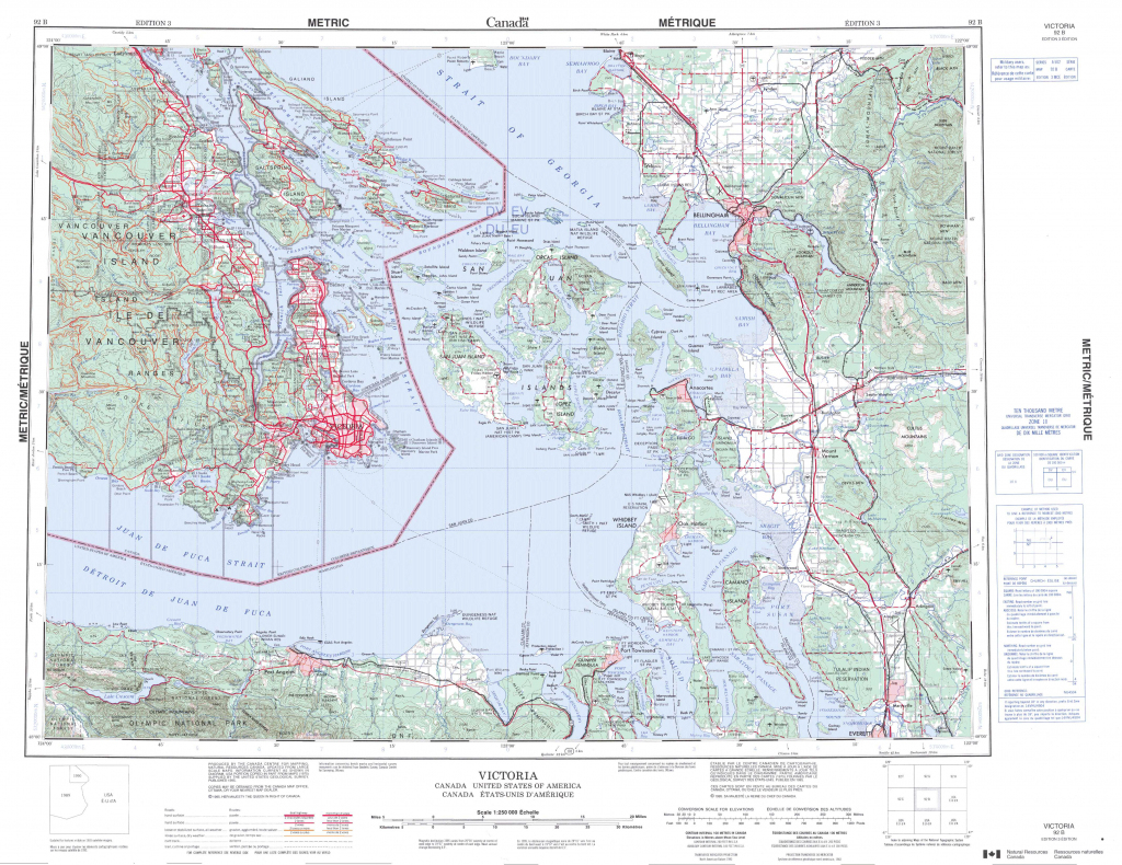 Printable Topographic Map Of Victoria 092B, Bc - Free Printable Topo with Free Printable Topo Maps Online
