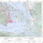 Printable Topographic Map Of Victoria 092B, Bc Inside Printable Usgs Maps