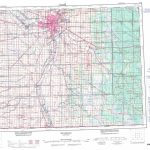 Printable Topographic Map Of Winnipeg 062H, Mb With Topographic Map Printable