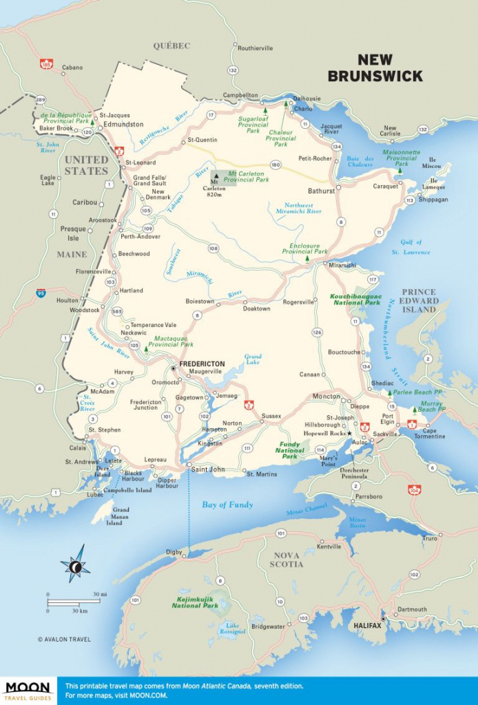 Printable Travel Maps Of Atlantic Canada | Canada | New Brunswick pertaining to Printable Map Of New Brunswick
