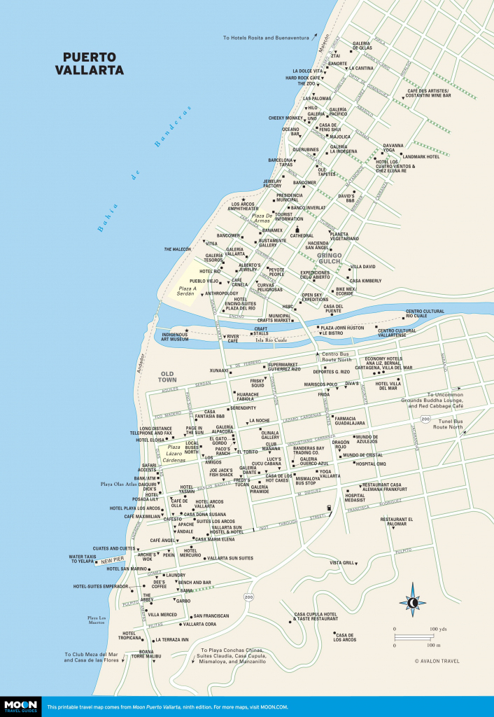 Printable Travel Maps Of Puerto Vallarta | Bucket List Or Anywhere within Puerto Vallarta Maps Printable