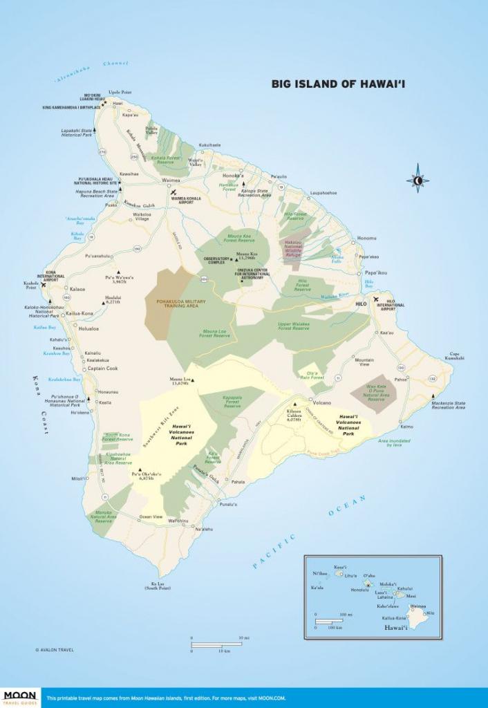 Printable Travel Maps Of The Big Island Of Hawaii In 2019 | Scenic within Map Of The Big Island Hawaii Printable