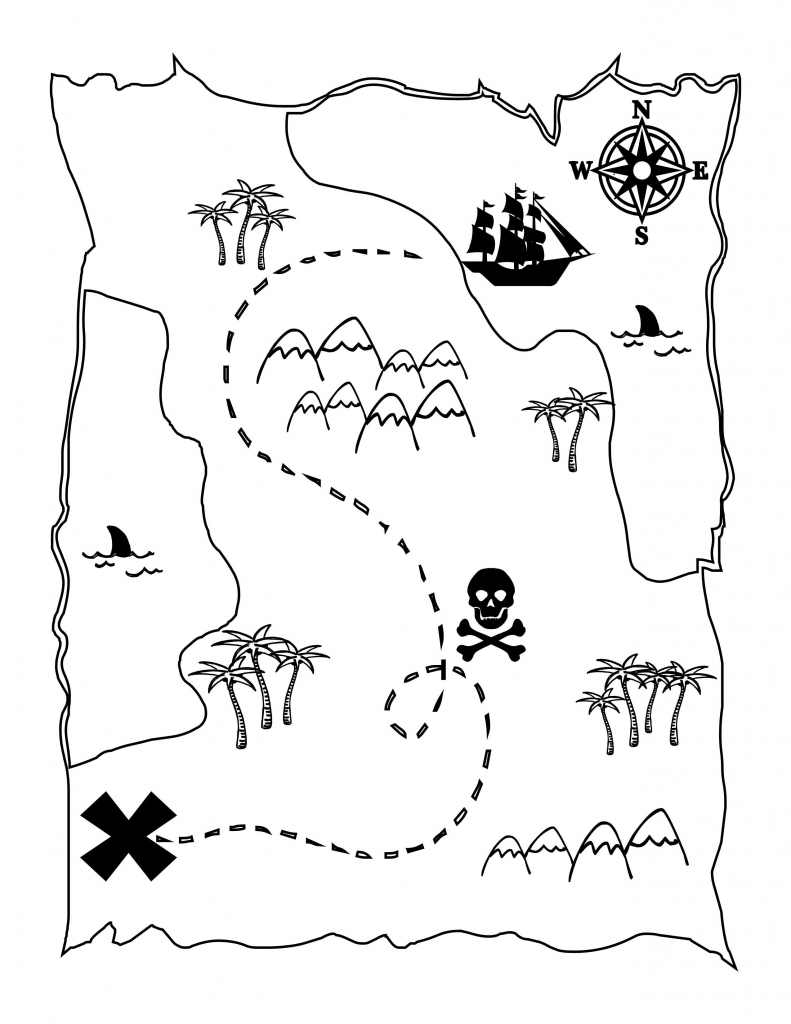 Printable Treasure Map Kids Activity | Printables | Pirates, Pirate in Printable Kids Pirate Treasure Map