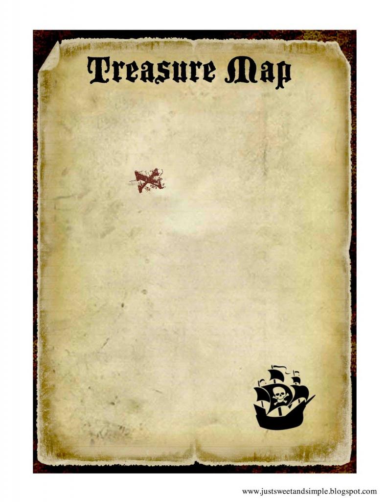 Printable Treasure Map | Pirate And Mermaid Party | Pirates, Pirate regarding Printable Scavenger Hunt Map