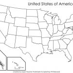Printable United States Map Blank Fresh 50 States Quiz Printable Within Printable 50 States Map