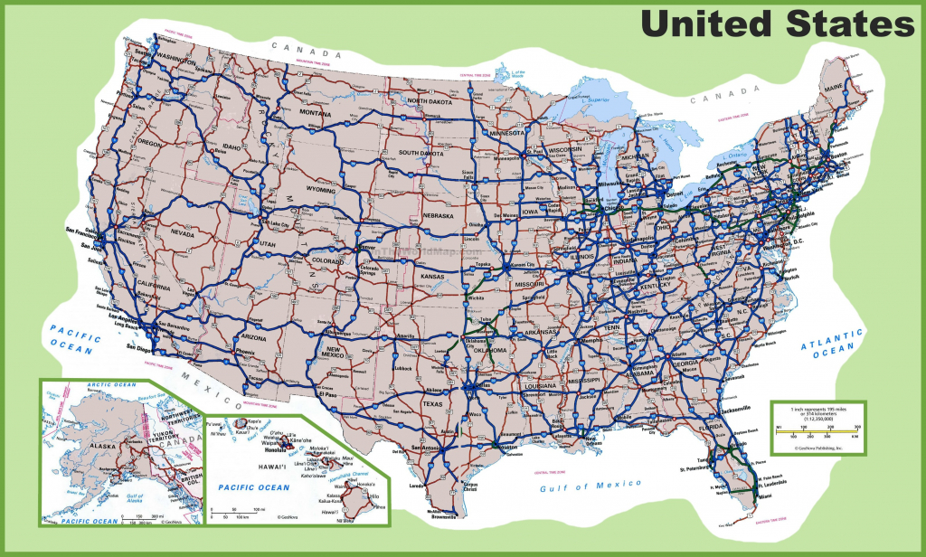 Printable United States Map With Cities Best Usa Road Map within Printable Road Maps By State