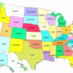 Printable Us Map Full Page United States Map Awesome Printable Us With Regard To Map Of United States With State Names Printable