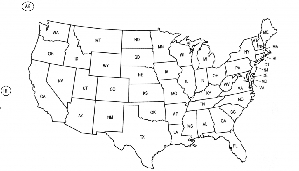 Printable Us Map Outline Free Refrence Print Out A Blank Map The Us intended for Free Printable Us Map For Kids