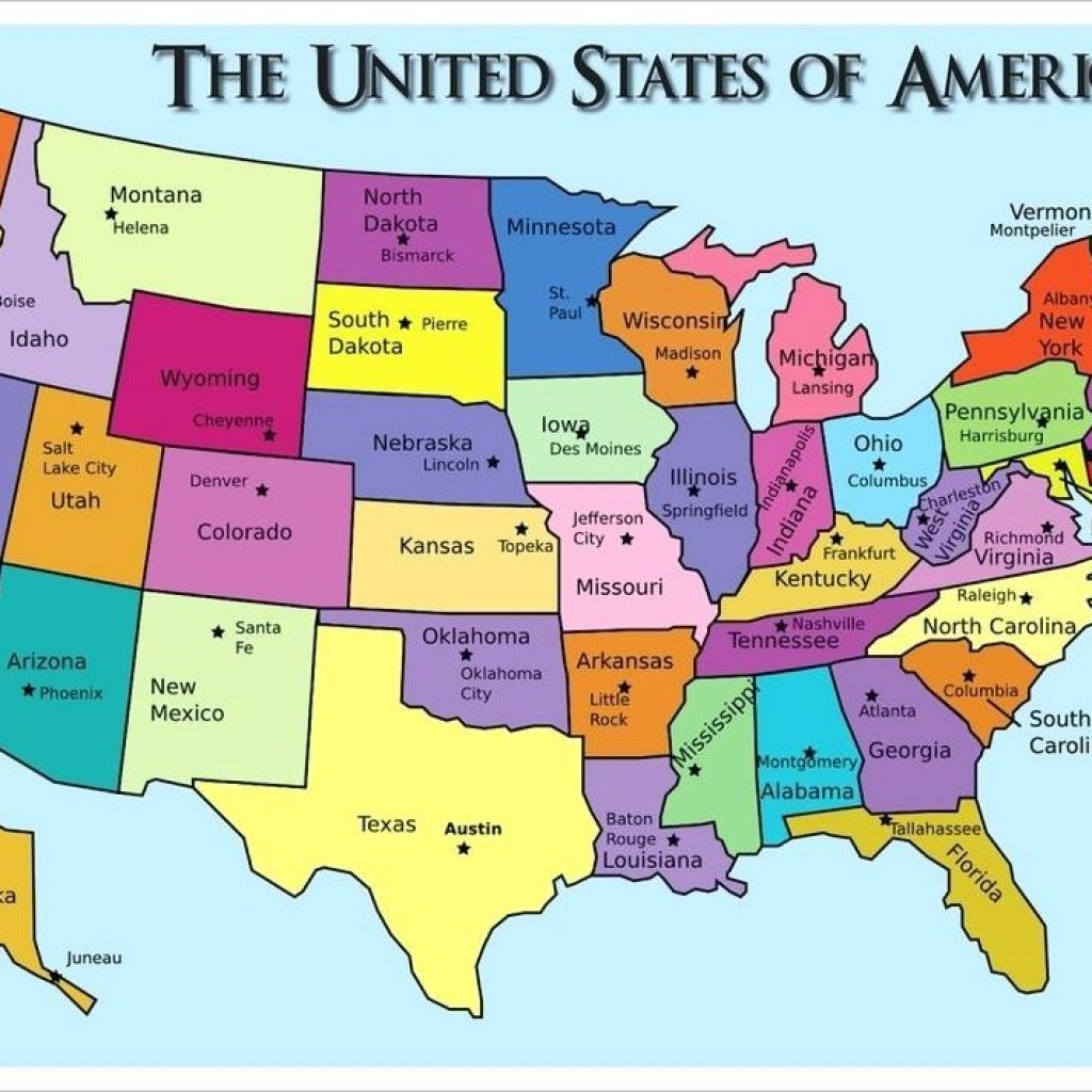 Printable Us Map With States And Capitals Test Your Geography with regard to Printable Usa Map With Capitals