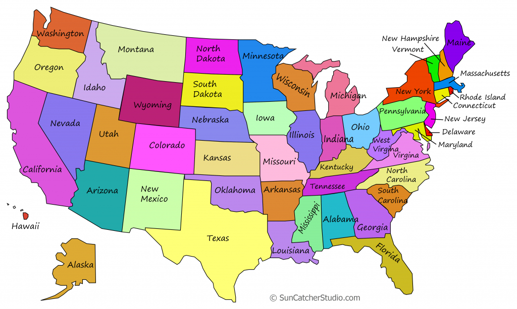 Printable Us Maps With States (Outlines Of America - United States) with Printable Usa Map With States