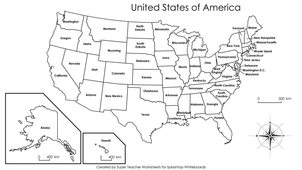 Printable Us State Map Blank Us States Map Fresh Printable Us Map To inside Printable Us Map With States
