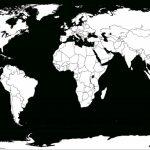 Printable White Transparent Political Blank World Map C3 | Free Inside Blank Map Printable World