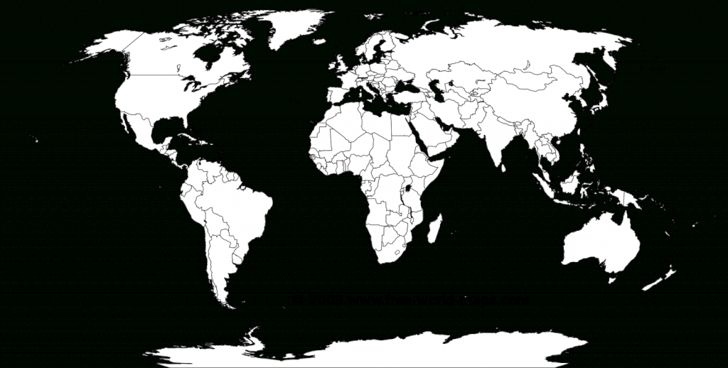 Printable White-Transparent Political Blank World Map C3 | Free inside Blank Map Printable World