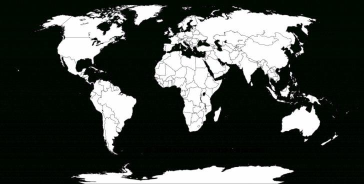 Free Printable World Map Outline