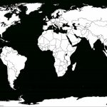 Printable White Transparent Political Blank World Map C3 | Free With Free Printable Country Maps