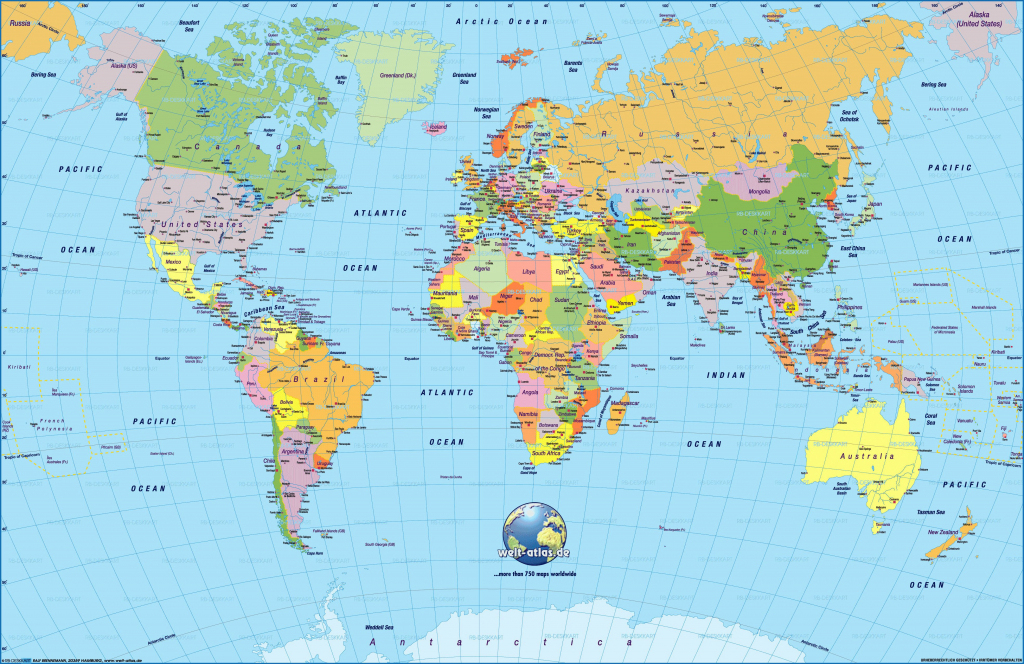 Printable World Map 2018 - 16.mackenzieinteriors.co • - Free with regard to Free Printable World Map