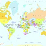 Printable World Map | B&w And Colored For World Map With Capitals Printable