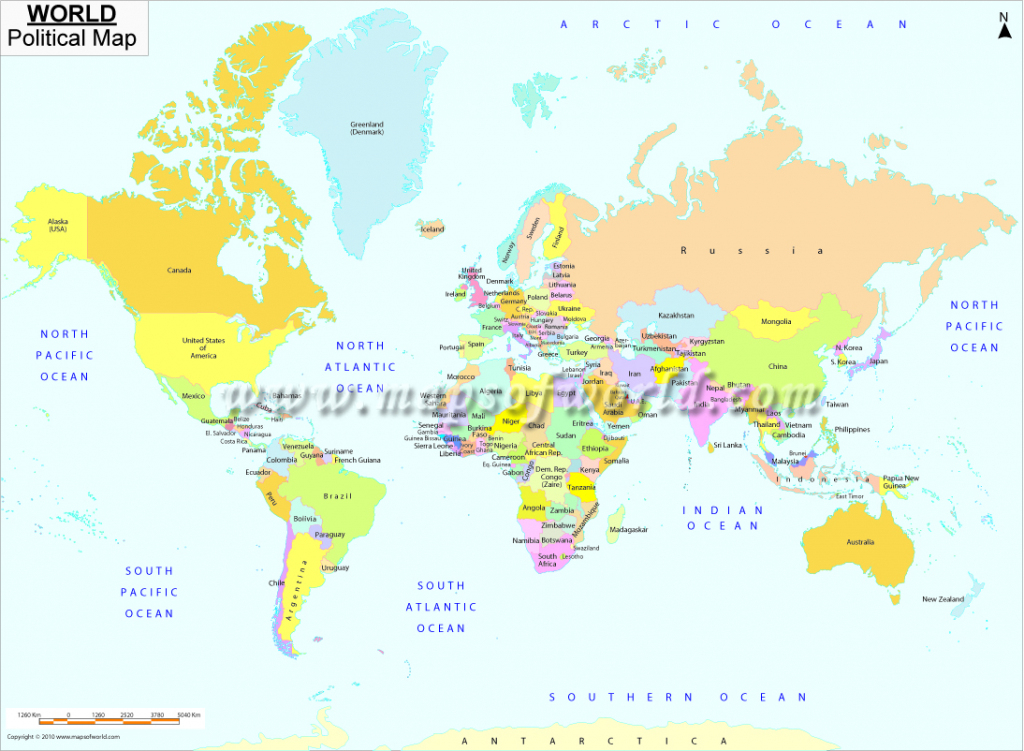 Printable World Map | B&w And Colored regarding World Map With Scale Printable
