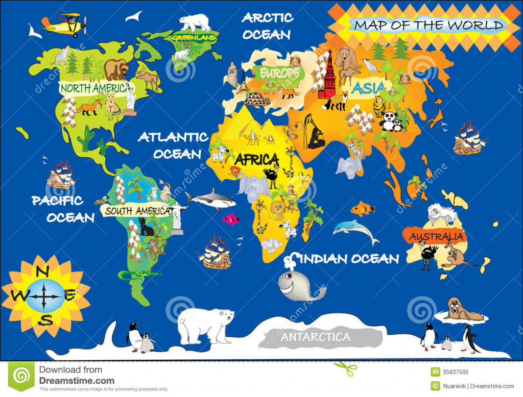 Printable World Map For Kids And Travel Information | Download Free inside Printable World Map For Kids
