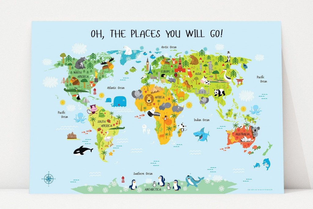 Printable World Map For Kids In 2019 | Leo's Playroom | Kids World in Printable World Map For Kids