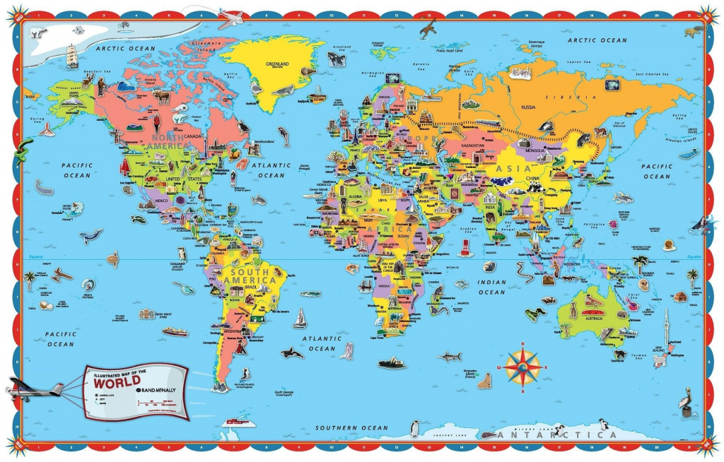 Printable World Map For Kids Incheonfair Throughout For Printable in Free Printable World Map Poster