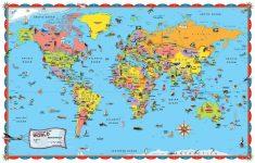 Printable World Map For Kids Incheonfair Throughout For Printable intended for Free Printable World Map For Kids