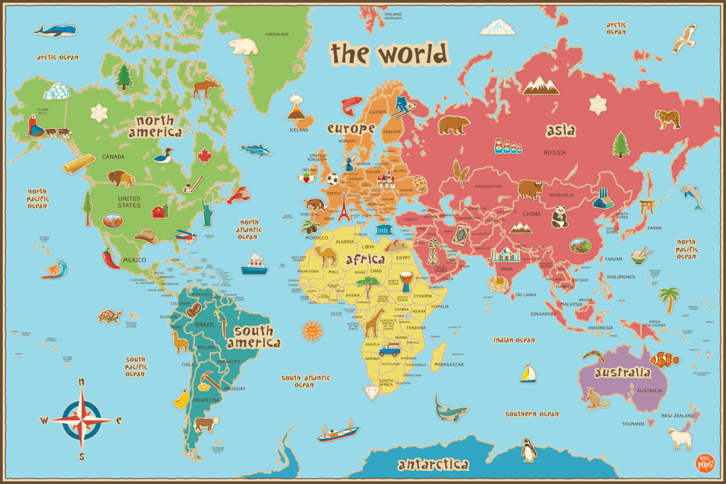 Printable World Map Poster   Sitedesignco with regard to World Map Poster Printable