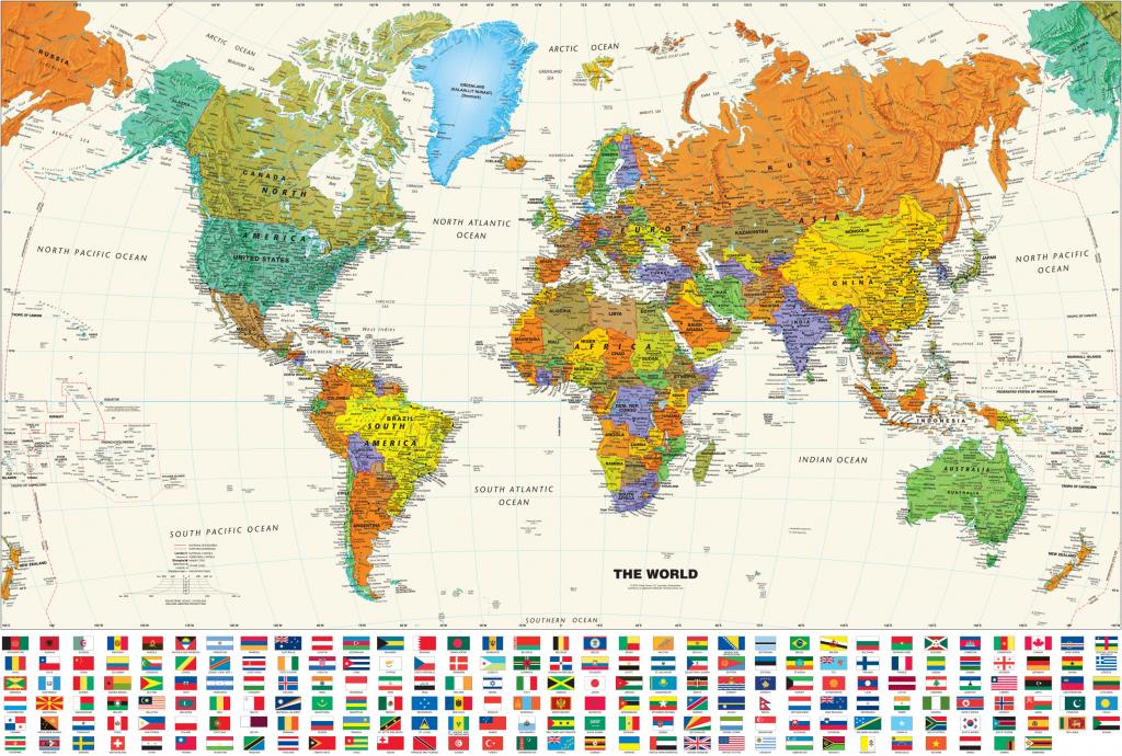 Printable World Map Posterinspiration Graphicworld Map Poster regarding Free Printable Large World Map Poster