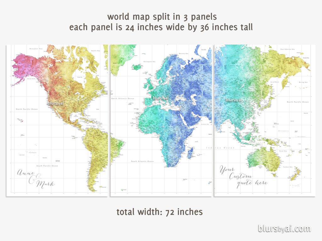 Printable World Map Posterphoto Gallery On Websitepersonalized World with World Map Poster Printable